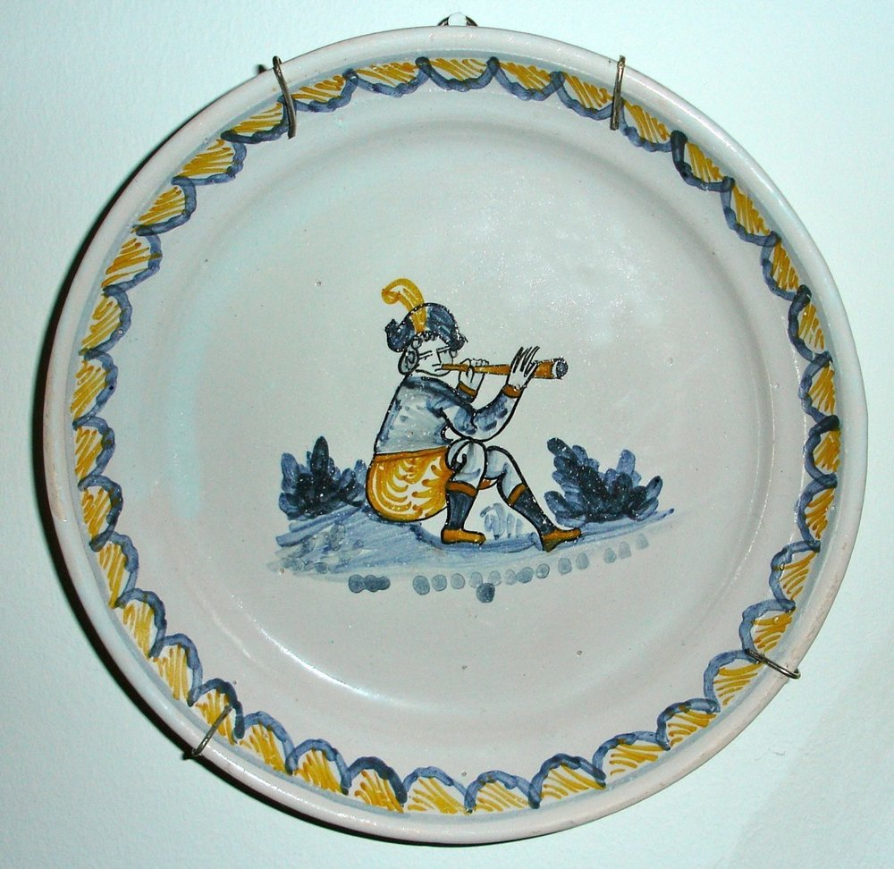 Dutch dinner plate, 19th century. Collection Edward Tarr.