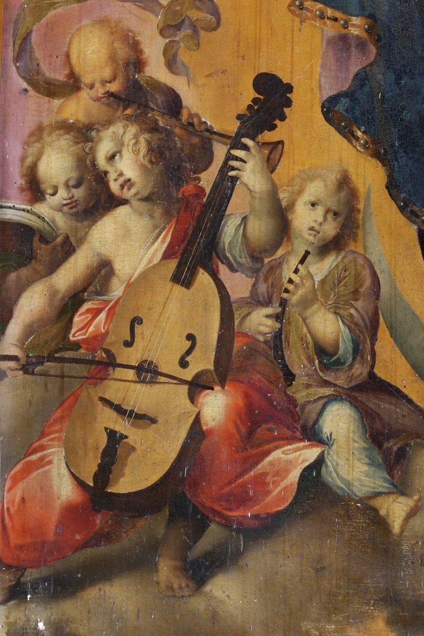 Detail of Immacolata of Girolamo Imparato (1549-1607) in Castellammare di Stabia
