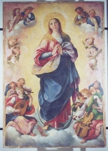 Immacolata of Girolamo Imparato (1549-1607) in Nicotera (Vibo Valentia). Contributed by Andrea Inghisciano.
