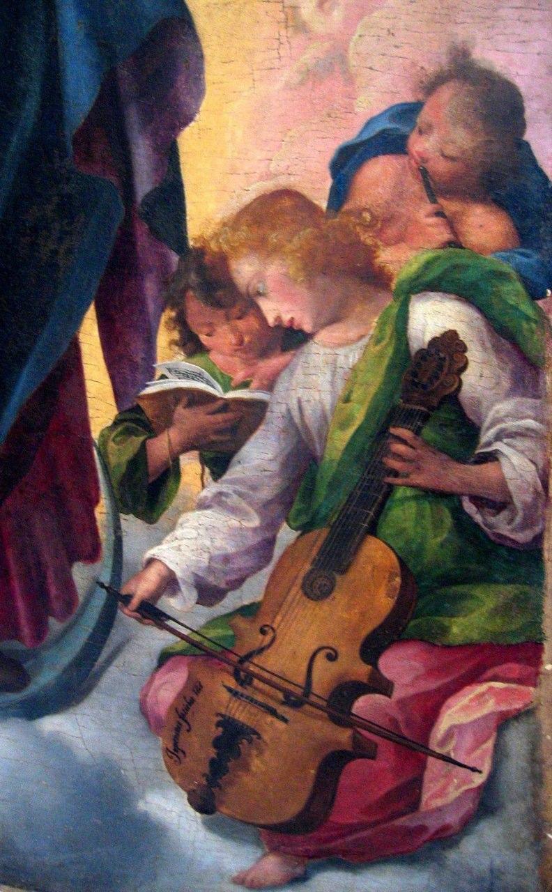 Detail of Immacolata of Girolamo Imparato (1549-1607) in Nicotera (Vibo Valentia)