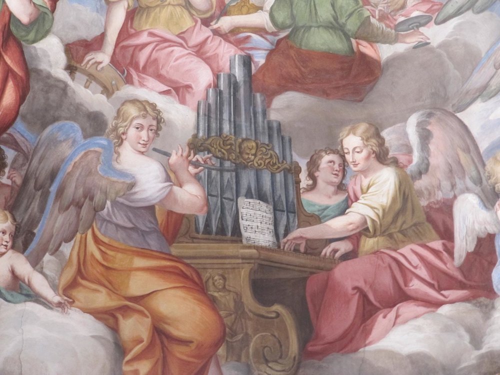 Romagnano Sesia, Chiesa della Madonna del Popolo, Frescoes above the alter by Tarquinio Grassi, 1683