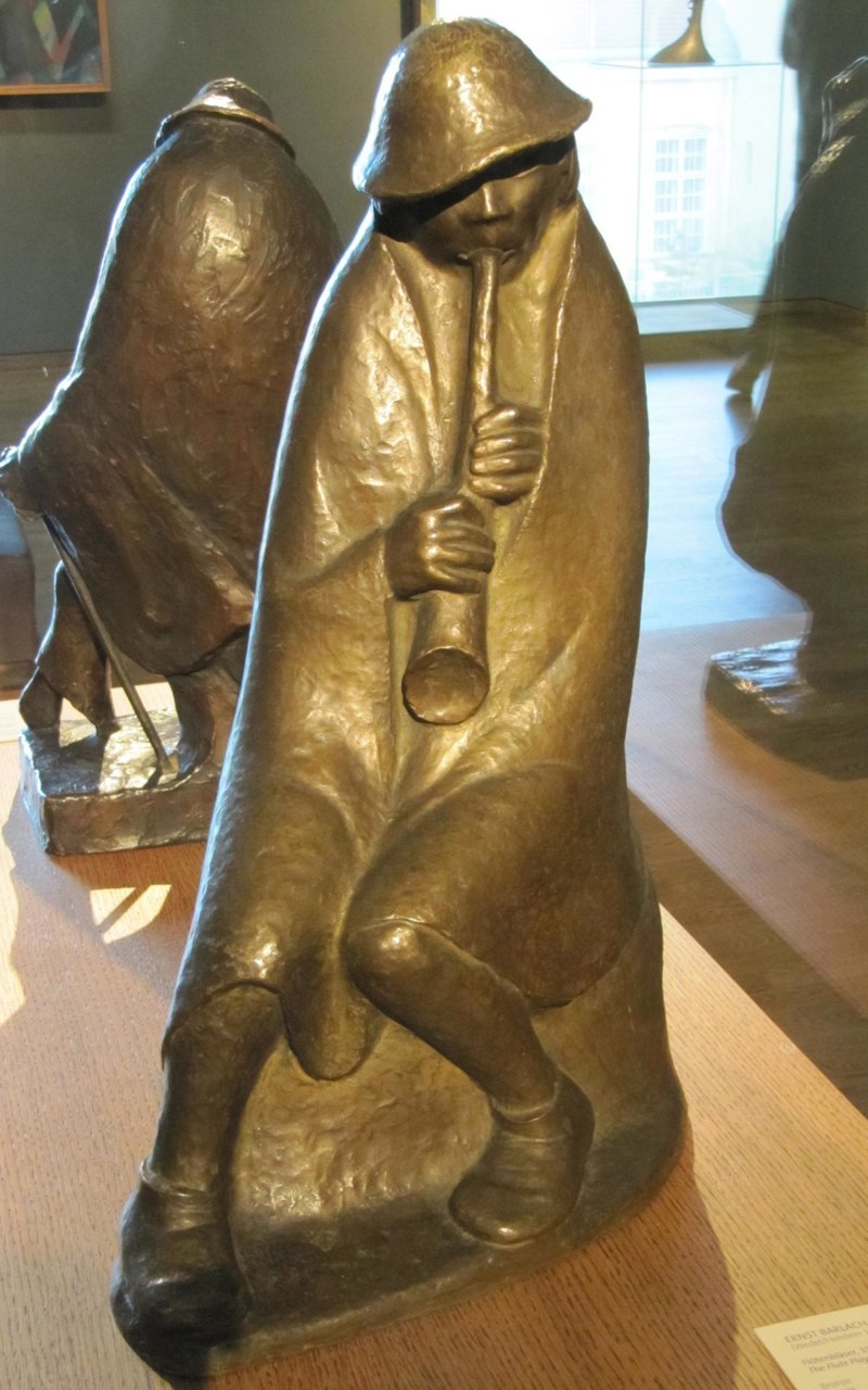 Ernst Barlach, Flötenbläser, 1936. Private collection