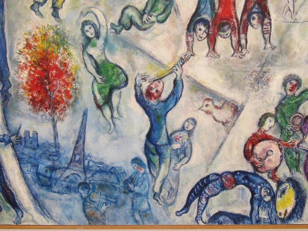 Marc Chagall, La Vie, detail. Fondation Maeght, St-Paul de Vence.