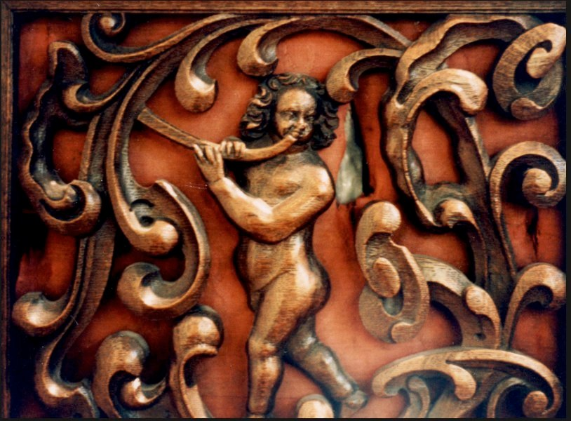 Hague Gemeentemuseum, decoration on an organ case.
