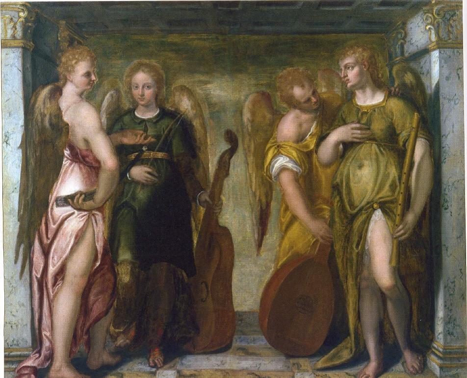 Angeli Musicanti, workshop of Felice Brusasorci, Quadreria del Convento dei Frati Cappuccini, Trento.