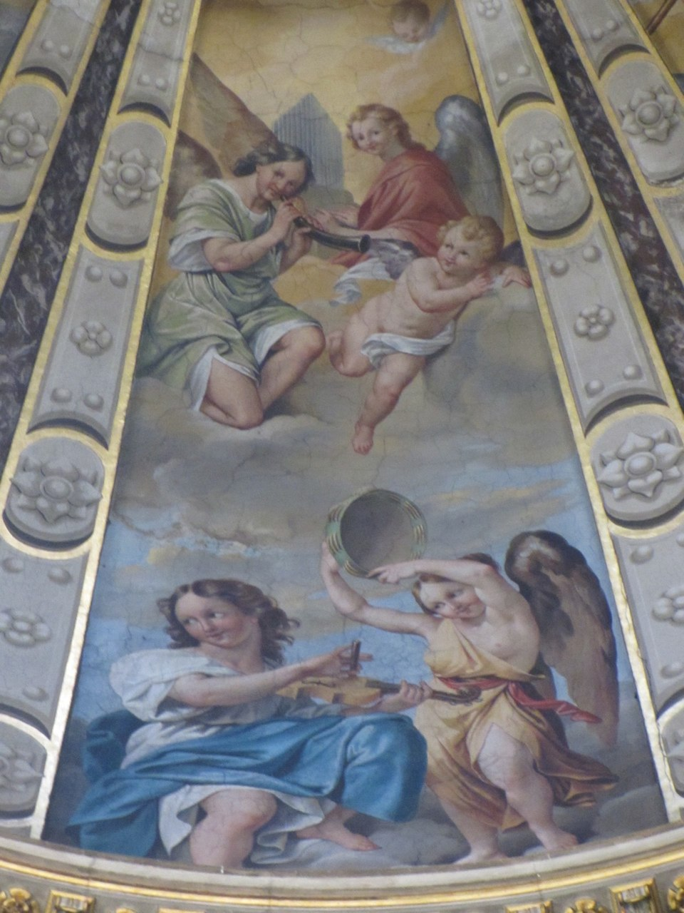 Fresco on the cupola of the Chapel of San Domenico in the Basilica of the same name in Bologna, 1614-16