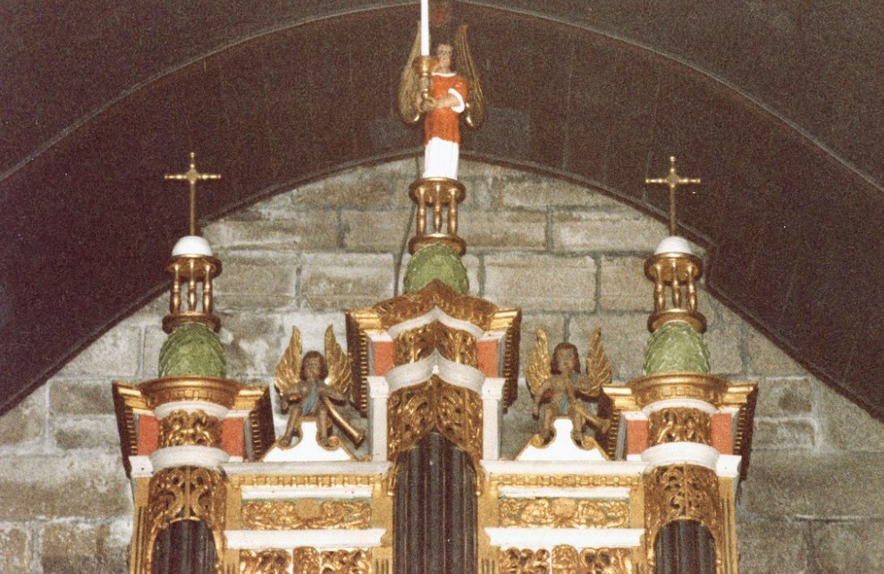 Organ decoration in Ergué- Gabéric, Brittany.