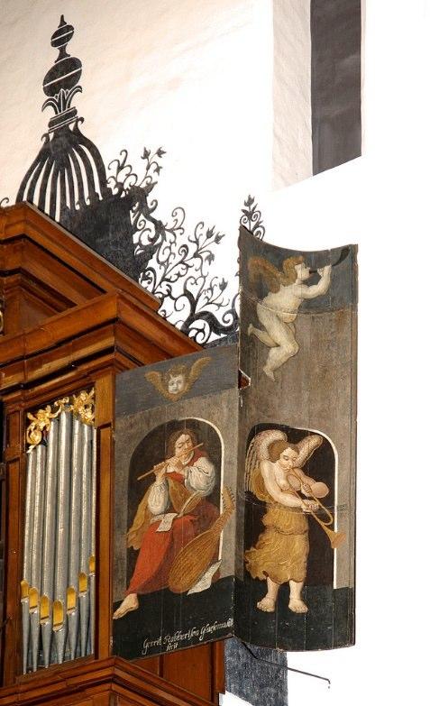 Organ shutter of the organ in the Andreaskerk, Hattern, Gelderland.