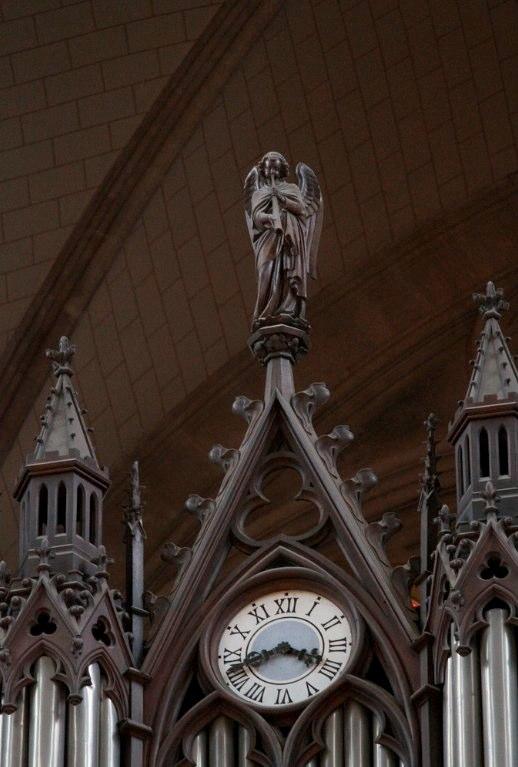 Angel atop the Aristide Cavaillé-Coll organ in Ste. Clotilde in Paris, 19th c.