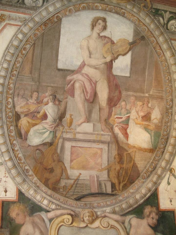Painted ceiling in the Palazzo Zuccari (now the Max-Plank- Institut für Kunstgeschichte) in Rome. Painted by Federico Zuccari in the 16th century.