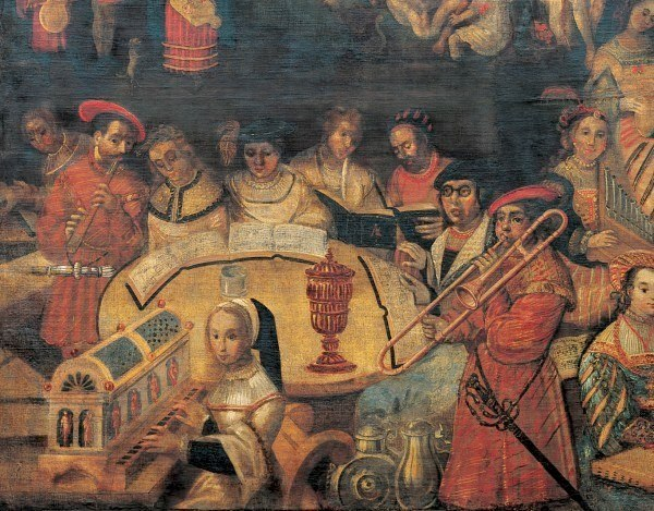 An anonymous oil painting, 1540, entitled Der Castalische Brunn, originally the property of Basel physician Felix Platter (1536-1674). Basel, Historisches Museum.