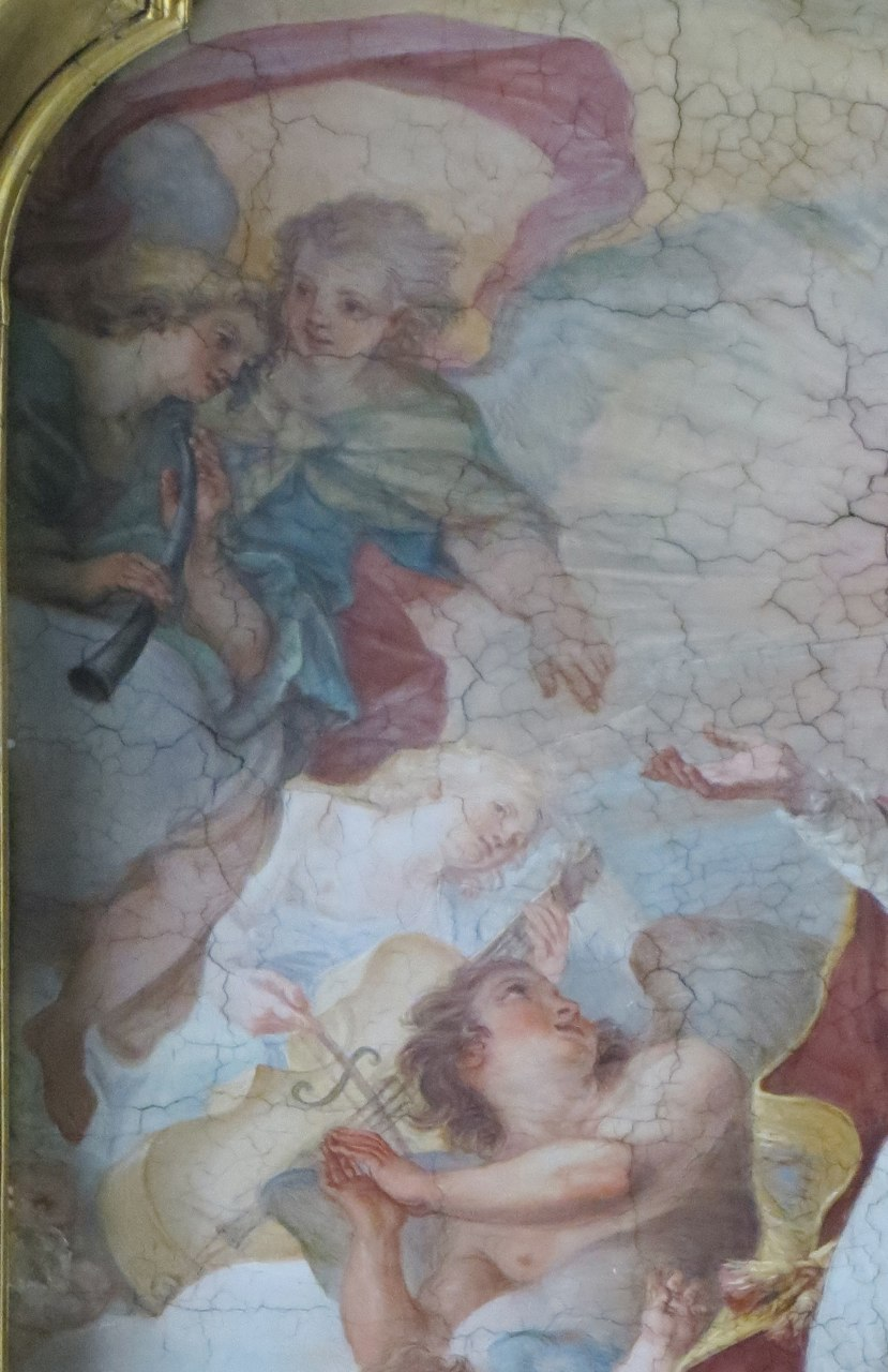 Giuseppe Chiari (1654-1727). Ceiling fresco, San Clemente in Gloria, painted for Pope Clement XI
