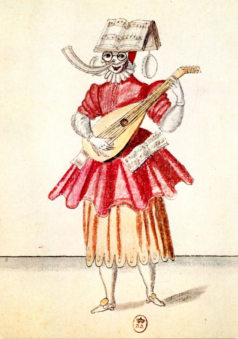 Ballet des fées des forests de Saint-Germain (Watercolor by Rabel, Bibl. nationale Paris)