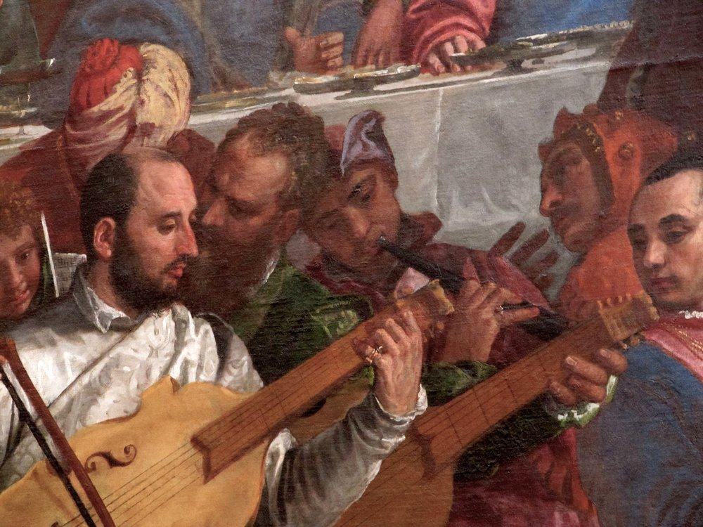 Veronese; Detail from marriage at Cana; Paris, Musée du Louvre