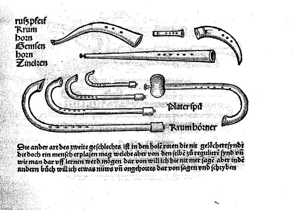Sebastian Virdung, From Musica getutscht, Basel, 1511.