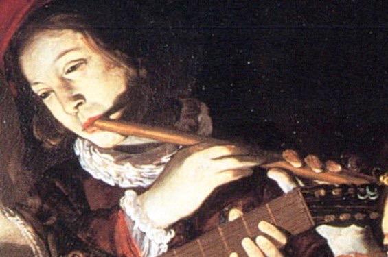 Rutilio Manetti (Siena 1571-1639). Giocatori e suonatori a lume di candela.  Detail
