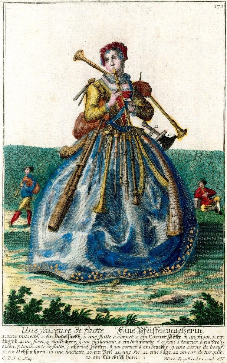 Assemblage nouveau des manouvries habilles: Pipemaker (ca 1730-1740), etching & engraving, Martin Englebrecht (1684-1756).