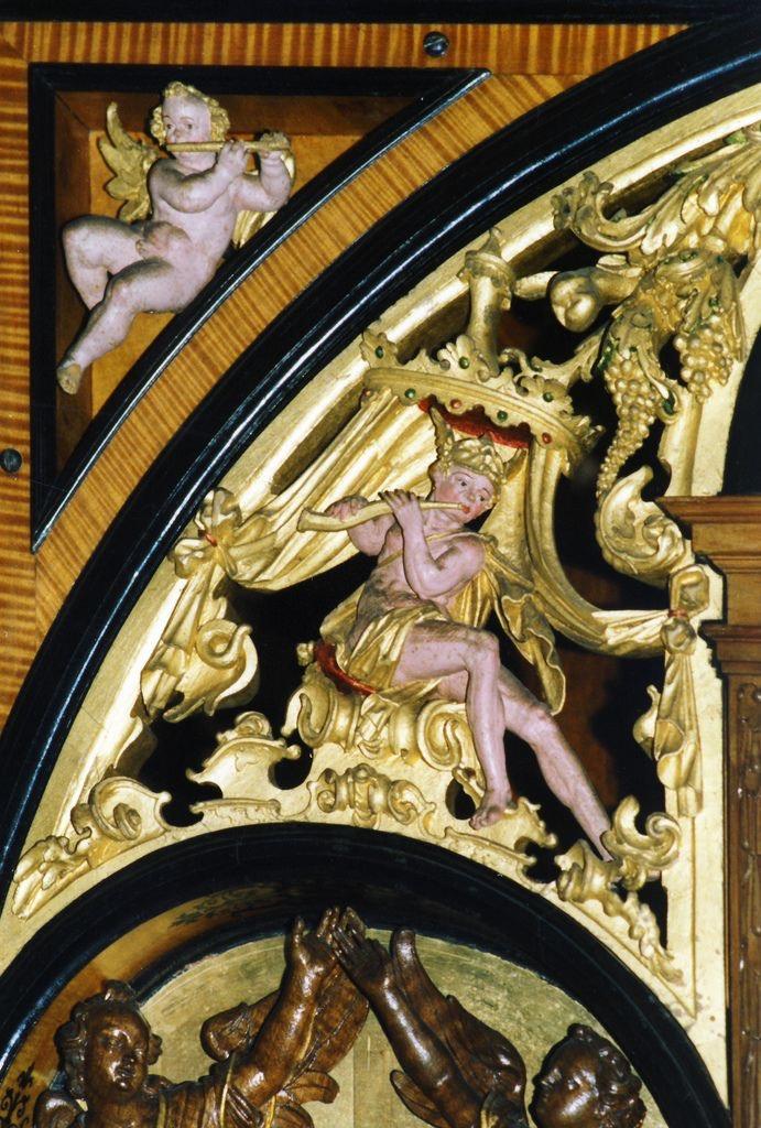 Hillerød, Denmark, Fredericksborg castle,  organ, detail