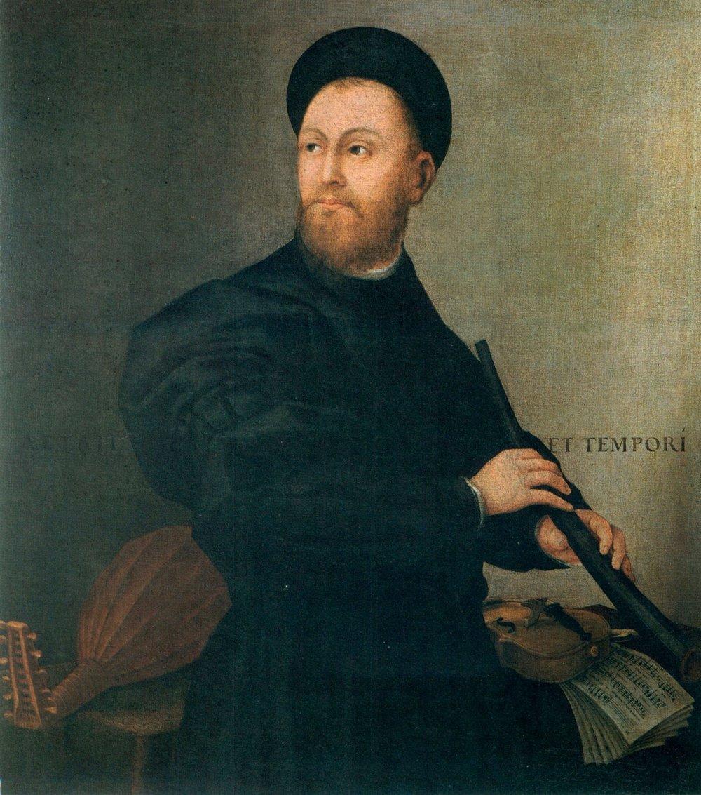 Bernardino Licinio (c.1490 - c.1565) Ritratto di suonatore di cornetto, Bergamo, private collection.