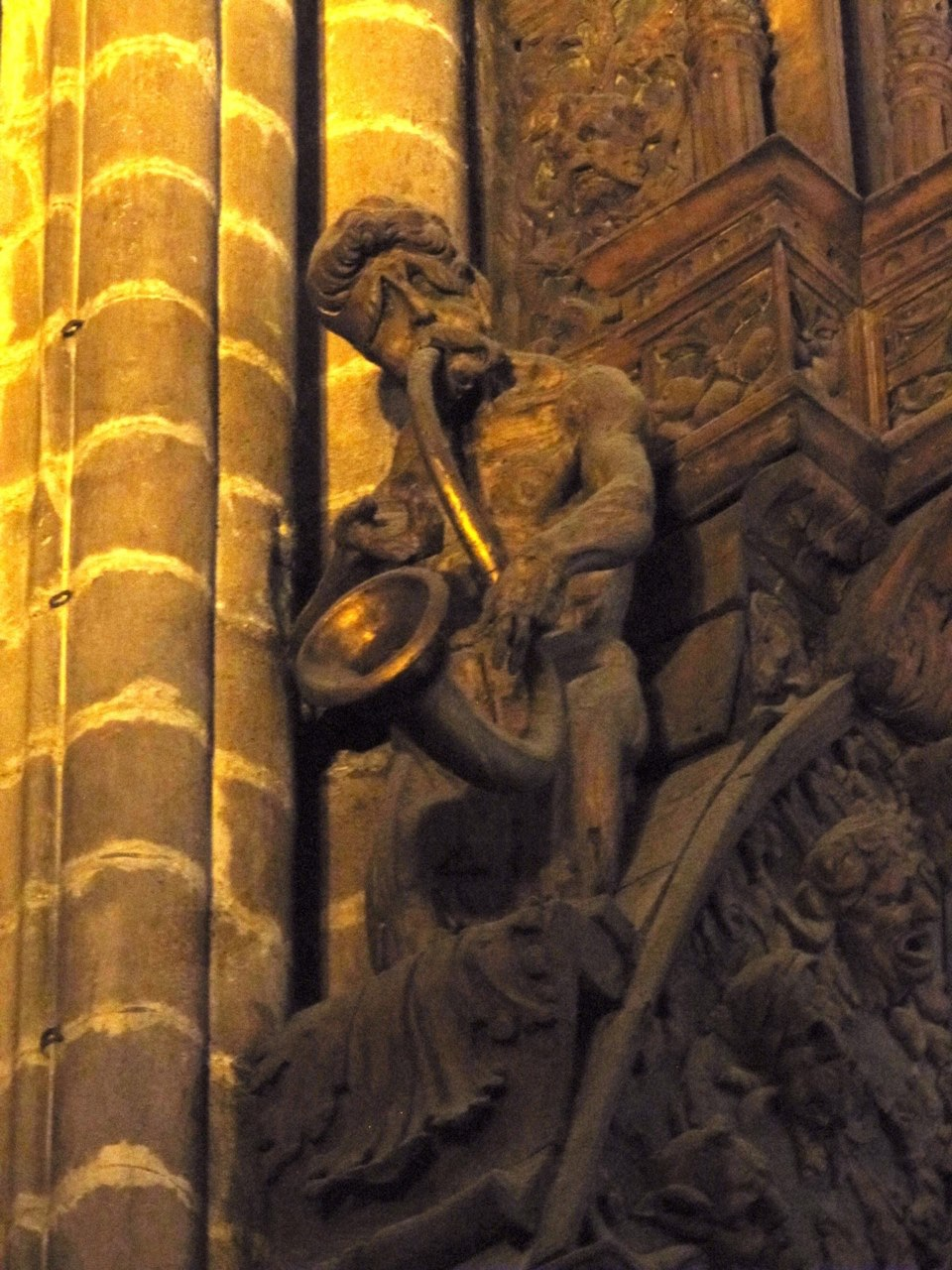 Decoration on organ case, Barcelona Cathedral