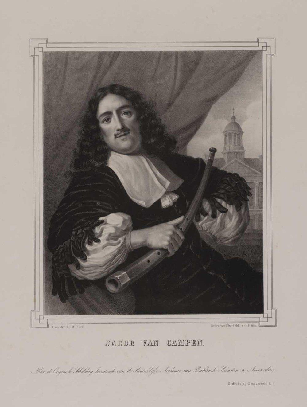 Michiel Servaesz Nuyts (Nouts), klokkenist van Amsterdam (1628-1693) , 1827 - 1856 Jan Braet von Überfeldt (1807-03-28 - 1894-03-28) (lithograaf) Lodewijk van der Helst (1642 - 1683)