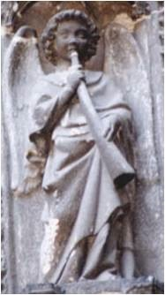 Angel on the facade of Rouen Catherdral