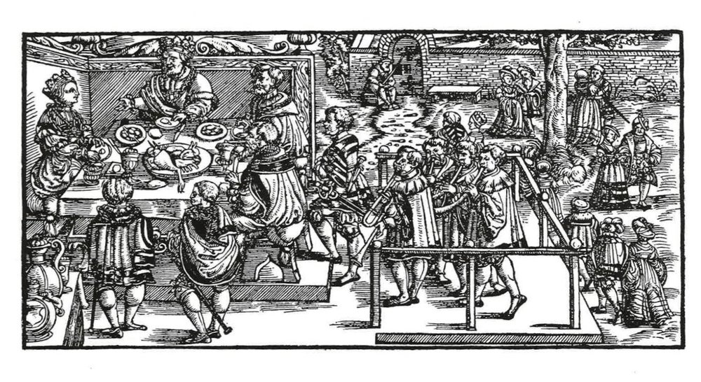 Illustration from the Swiss Chronicle, published by Jean Stumpf, 1548, Zurich.