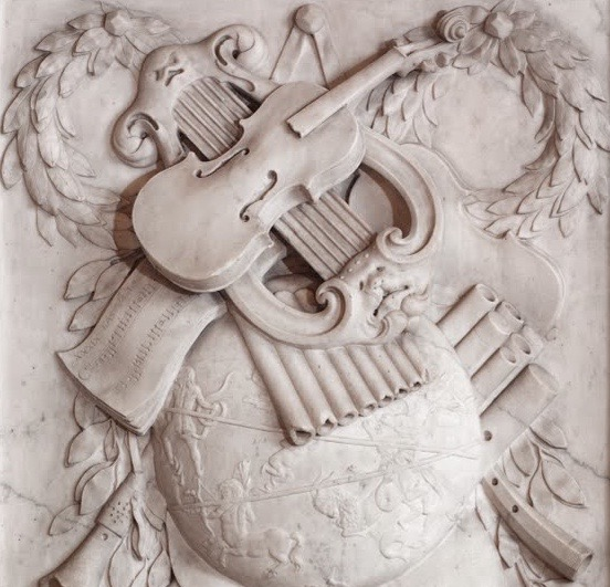 Detail of a relief in the Royal Palace, Amsterdam.  Attributed to Willem de Keyser (1647-1692).