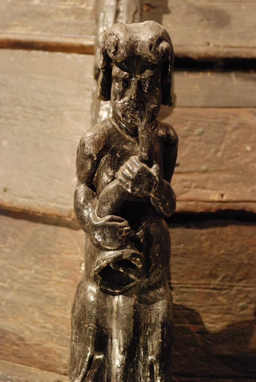 Carved figure on the Wasa warship which sank in 1628 off the Swedish coast.