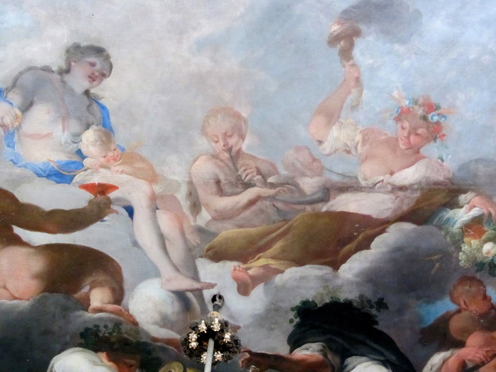 Ceiling painting in the Ludwigsburg Residenzschloss, Detail