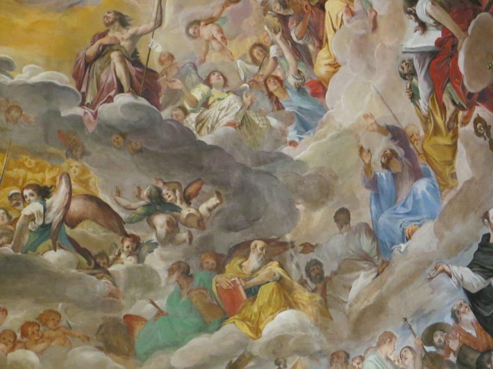Large fresco on apse, Basilica dei Santi Quattro Coronati, Roma