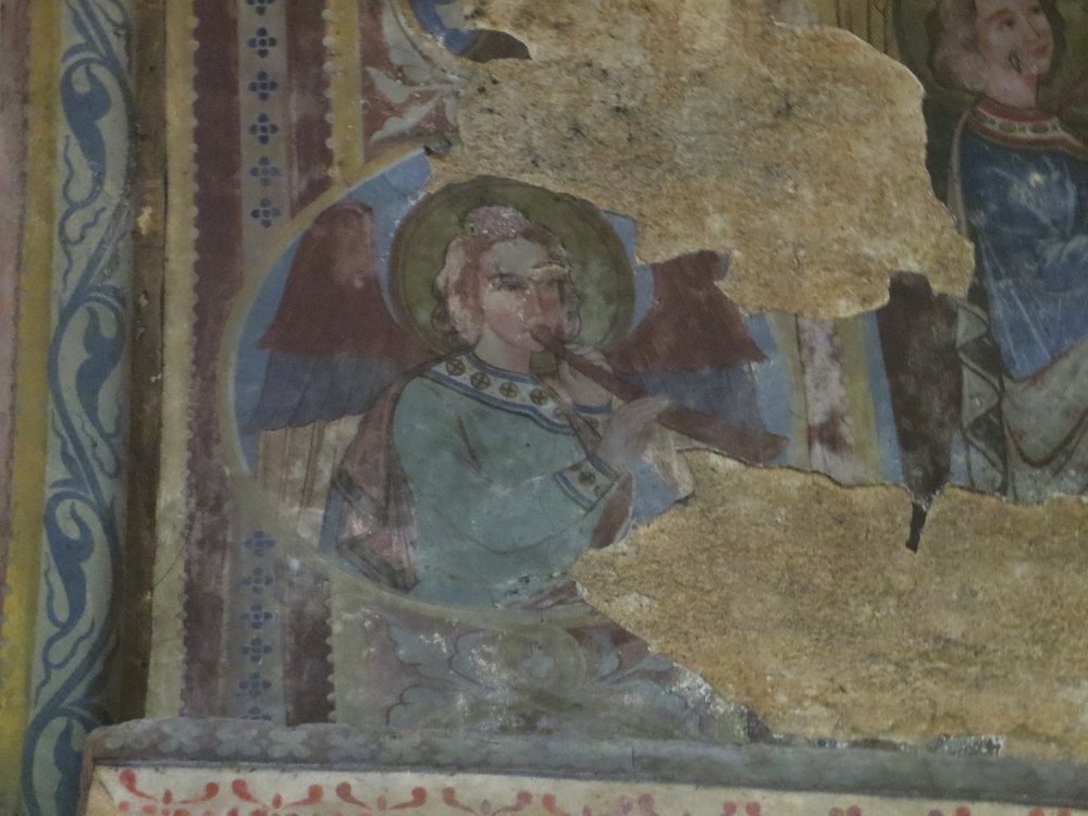 Ceiling fresco in Notre-Dame-la-Grande, Poitiers.