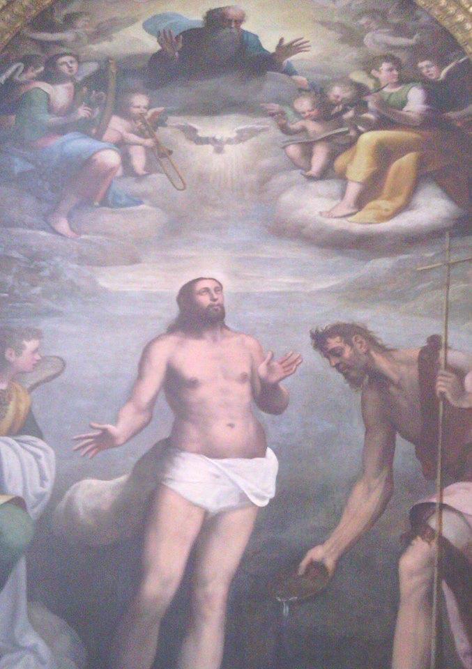 Antonio Semino da Genova (1485-1547). Il Battesimo di Gesù, Chiesa di S. Agostino, Loano, SV (Liguria).