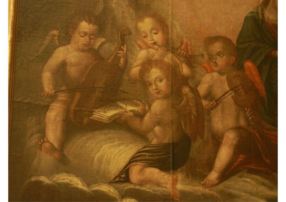 Miguel Domínguez Mantelasia. Muerte de Santo Domingo de Guzmán. 18th Century.