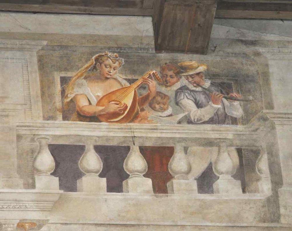 Trompe l'oeil fresco in the Palazzo Ducale, Sabbioneta.