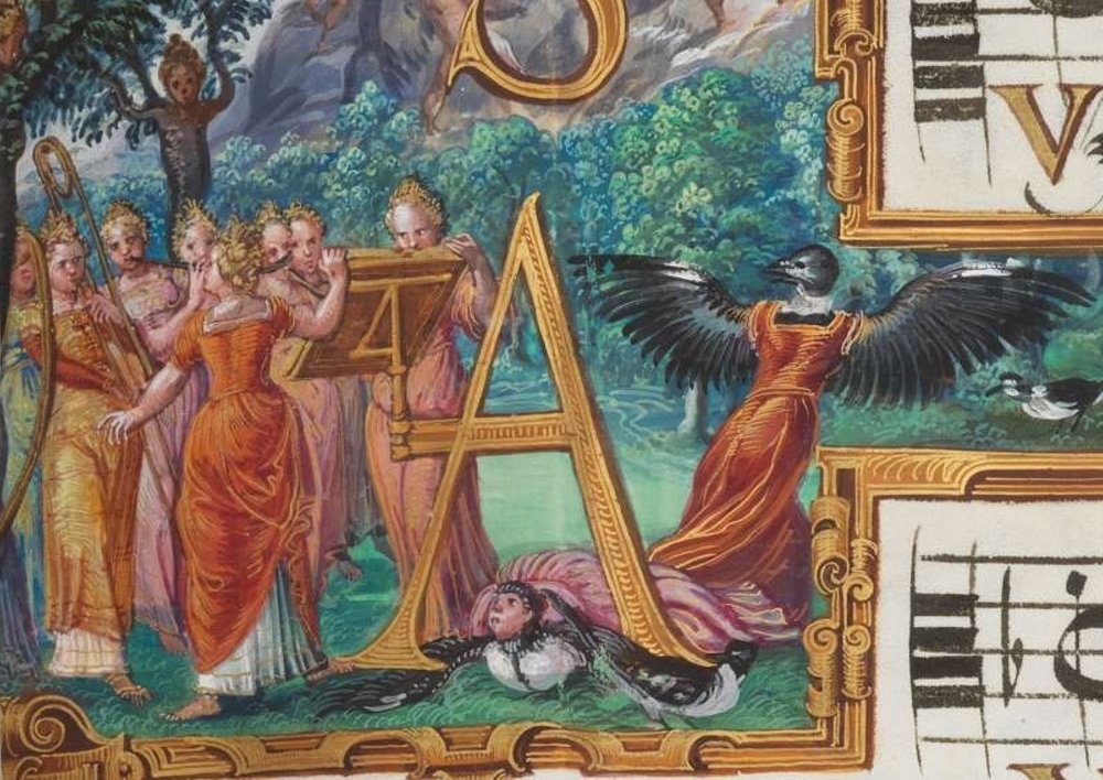 Illuminations in a collection of works by Cipriano de Rore, Munich, Bayerische Staatsbibliothek, Mus. ms. B.