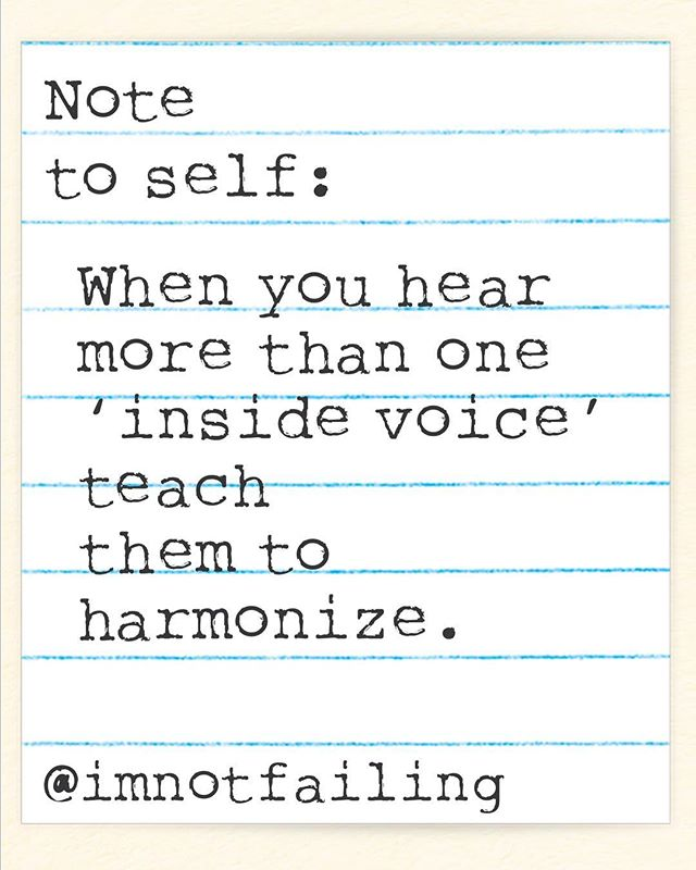 Note to self: I'm. Not. Failing. . . . . . #notetoself #imnotfailing #mentalhealth #mentalhealthmatters #ocd #itsnotmeitsmyocd #daughtersofnarcissisticmothers #npdawareness #harmony #pitchperfect #itsfuntosinginharmony #itsfuntosingbothyouandme