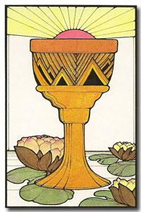 Aquarian Tarot by David Palladini - Ace of Cups