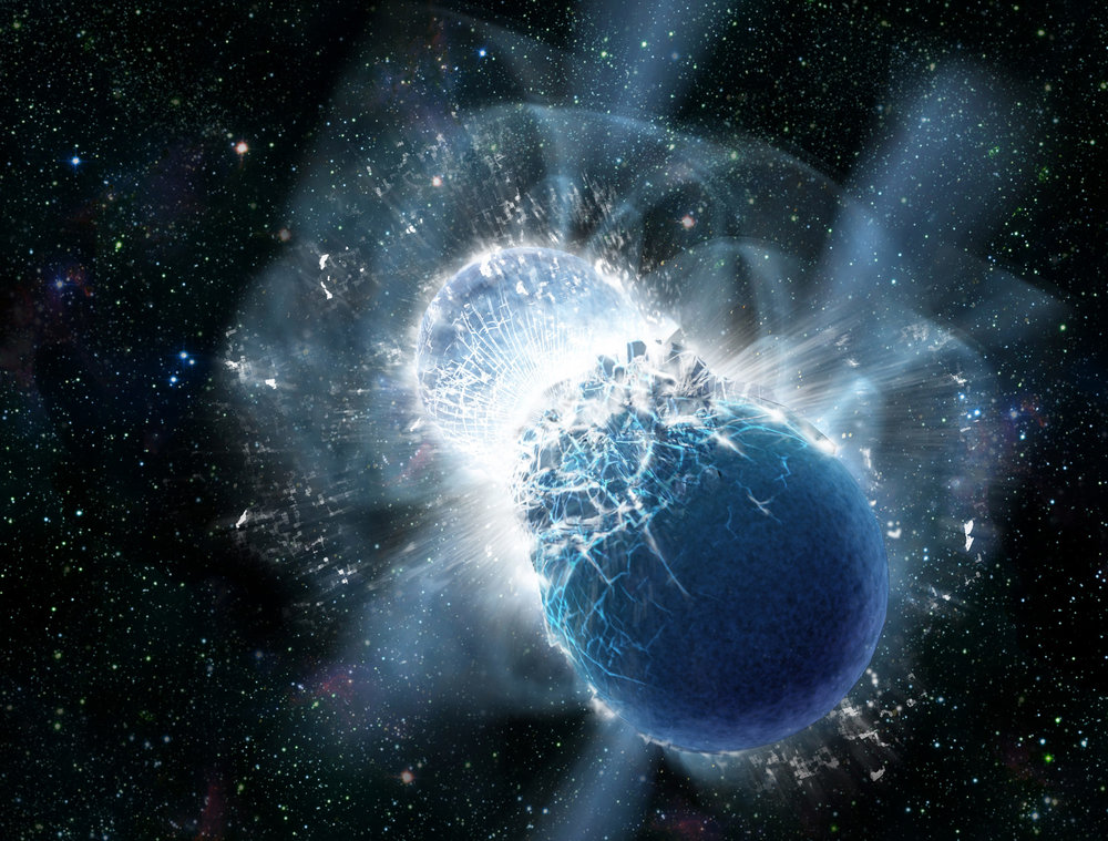 Interestingly - it's the interaction of neutron stars that is thought to have produced the gold that's so highly prized the world over ... how apt a metaphor for God's love - don't you think?