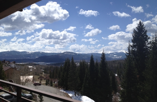 view from the condo - overlooking the Rockies