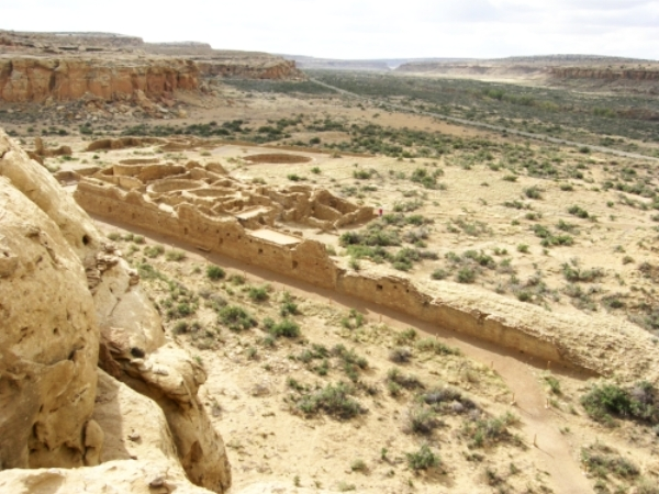 high desert canyon at Chaco Culture National Historical Park