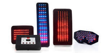Polychromatic LED lights - Red lights penetrate deeper, into the muscle, tendon and bone level.Blue lights affect superficial skin and  tissues, organs and circulation. Near-infrared lights give deeper penetration to both red & blue lights. A controller unit has 3 automatic and 7 manual settings for specificity.Two tone frequencies are included to affect mood and physical cells.