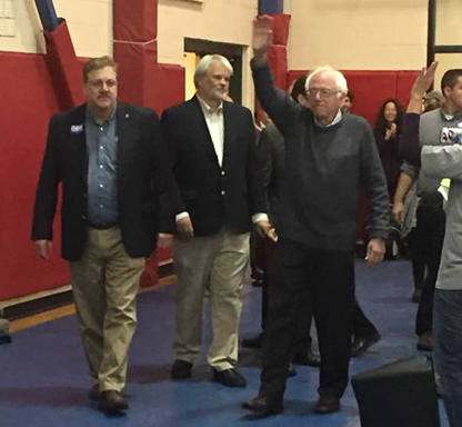 Rights and Democracy Rally with Bernie Sanders,Secretary of State Jim Condos, and Steve