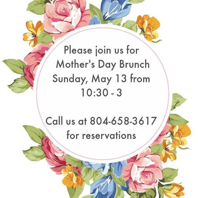 Your mama will thank you! #goodeatsrva #lulabellesrva #mothersday #mothersdayrva #rvadine