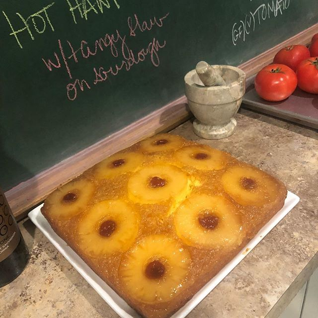 Hot out of the oven! #pinappleupsidedowncake