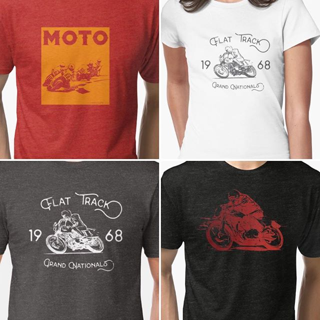 @customtrackswag is working on a new collection of #motorcycle racing themed designs for our 2-wheeled fans! These #vintage_motorcycle #racing inspired graphics are available on our #redbubble store http://www.redbubble.com/people/trackswag/collections/573181-motorcycle?asc=u  Let us know what you think!