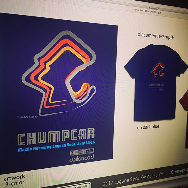 @customtrackswag is so excited to announce the shirt we did for the July 14-16 @chumpcarworldseries race at Laguna Seca. Our team #teamlateapex will be running the event!  Chumpcar will be showcasing a new line of merchandise designed by @linespace_studio