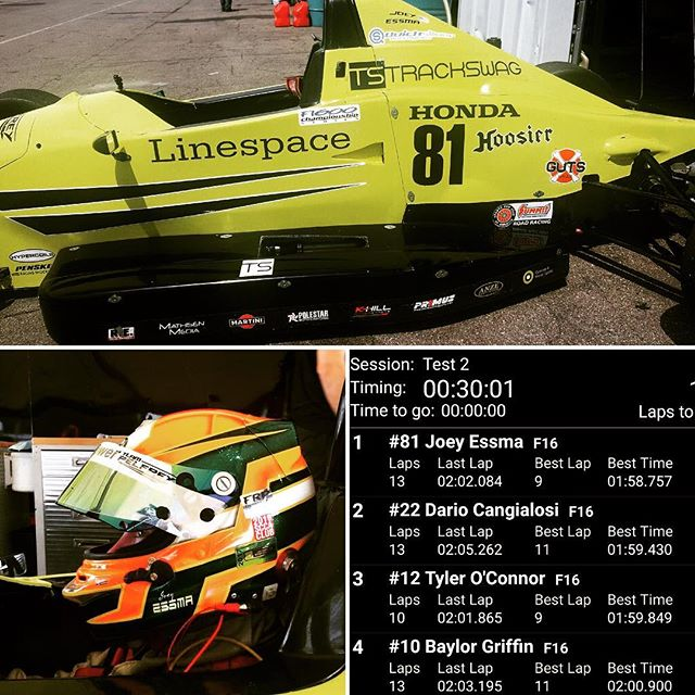 Awesome watching the success of a great driver. Joey Essma Racing @joeyessma31 is taking the glen this weekend In his Pelfrey powered f1600.