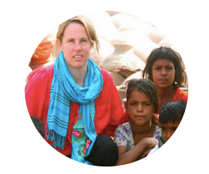 Jen Hutchinson in Faridabad, India