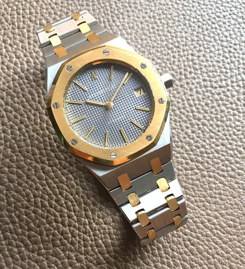 in audemars royal gold oak watch ref beverly watches yellow piguet